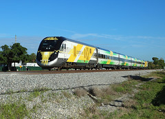 Bright Green, Cypress Creek FL,  27 Feb 2019 (Mr Joseph Bloggs) Tags: brightline miami west palm beach virgin trains usa united states america florida siemens charger bright green cypress creek 109 train railway railroad bahn scb40 scb 40
