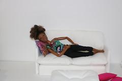 Khira Storm (darqq_seraphim) Tags: barbie barbiedolls barbieplay barbieandfriends barbiefurniture diybarbiefloorpillow africanamerican africanamericandolls africanamericanmadetomove africanamericanmadetomoveyellowshirt aabarbie aadollsfemaledolls aamadetomove aamadetomoveyellowshirt 16scale 12inchdoll diorama roombox barbielivingroom khia khiasstory
