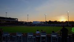 2442263585 (jalexartis) Tags: fayetteville fayettevillenc fayettevillenorthcarolina downtown downtownfayetteville segra segrastadium stadium baseball ballpark inaugralseason inaugral sunset lighting