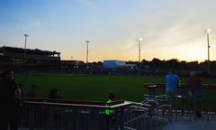 2442263569 (jalexartis) Tags: fayetteville fayettevillenc fayettevillenorthcarolina downtown downtownfayetteville segra segrastadium stadium baseball ballpark inaugralseason inaugral sunset lighting