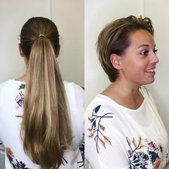 aaxc (morikarak) Tags: long short longhair shorthair rapunzel chop chopitoff thickhair ponytail braid shave blonde brunette