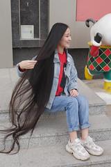 BIG CHOP (morikarak) Tags: long short longhair shorthair rapunzel chop chopitoff thickhair ponytail braid shave blonde brunette