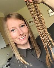 gmer AFTER (morikarak) Tags: long short longhair shorthair rapunzel chop chopitoff thickhair ponytail braid shave blonde brunette