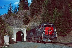Support can be Beautiful (C.P. Kirkie) Tags: fields oregon southernpacific sp sporegondivision spcascadesubdivision emd sd45t2 tunnelmotor train railroads helpers ctc cascaderange espee forest tunnel