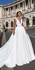 Noble 2018 New Fashion BeadWedding Dress,White Satin Bridal Dress,V-Neck Wedding Gown (Read News) Tags: httpswwwinstaglobalconoble2018newfashionbeadweddingdresswhitesatinbridaldressvneckweddinggown