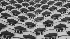 a short story about balcony (ignacy50.pl) Tags: abstract minimal building architecture cityscape balcony windows blackandwhite urban warsaw