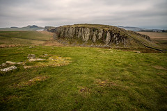 A violent past....... (Dafydd Penguin) Tags: geological fault line ridge earthquake history ancient monument hadrians wall northumberland uk coast cast national trail ramble walk path landscape cliff hill historical roman italy leica m10 21mm super elmar f34 asph