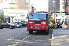 FDNY Tower Ladder 138 (Triborough) Tags: ny nyc newyork newyorkcity newyorkcounty manhattan noho fdny newyorkcityfiredepartment firetruck fireengine towerladder tower ladder ladder138 towerladder138 seagrave aerialscope