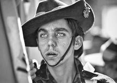 I was only 19 (gro57074@bigpond.net.au) Tags: candidportrait cbd sydney elizabethstreet f28 70200mmf28 nikkor d850 nikon monochromatic monotone monochrome mono bw blackandwhite 2019 april anzacday cadet portrait candid guyclift iwasonly19