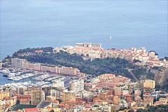 Le rocher de Monaco vu de la Turbie