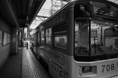 Hankai Tramway(阪堺電車新今宮駅前駅) (Hideki-I) Tags: monochrome bw blackandwhite 白黒 黑白 railway tram hankai osaka japan train station nikon z7 2470
