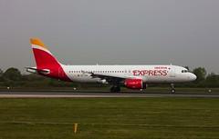 Iberia Express A320-214 EC-JFG EGCC Manchester Airport (msmithuk22) Tags: jetliner airport plane airline aircraft aviation ecjfg manchesterairport egcc airbusa320 airbus iberiaexpress iberia