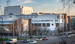 Oopperatalo (Mikael Neiberg) Tags: architecture opera oopperatalo helsinki finnisharchitecture modernarchitecture contemporaryarchitecture goldenhour road nikond700 nikkor80200mmf45ai culture