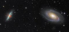 Two panel Mosaic - M81 - M82 (Astrolights.de) Tags: m81 m82 messier81 messier82 cigargalaxy bodesgalaxy zwoasi183mmpro astrophotography astro