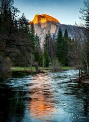 Sunset Over Half Dome (Mimi Ditchie) Tags: yosemite2019 yosemitenationalpark yosemite halfdome sunset mercedriver reflection river getty gettyimages mimiditchie mimiditchiephotography