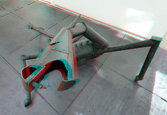 Stervend Paard by Carel Visser in BAZ 3D (wim hoppenbrouwers) Tags: stervendpaard carelvisser baz 3d anaglyph stereo redcyan krollermuller ijzer 1949 sculpture horse otterlo beeldenaanzee ttw