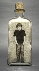 This is James; He Tries to be Good, Honest! (LenCowgill) Tags: len cowgill art drawing bottle mixed media