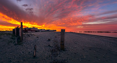 Long-Beach-Park-Milford-CT-USA_04252019-23-HDR-Pano-Edit (LBSimmsPhotography) Tags: clouds golden sony sunset view background beach beautiful colorful connecticut culture horizonoverwater landscape natural nature ngc northamerica outdoor sand scenic serene sky travel vibrant water