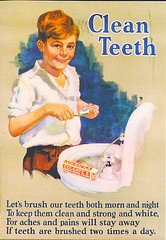 29 VeniceSunrise (Rocky's Postcards) Tags: clean teeth toothbrush dental care hygiene colgate advertisement postcard venicesunrise sink boy vintage toothpaste cream