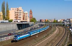 """193 289 """"Flora"""" - Berlin, Kaiserdamm (Bastian Weber) Tags: ec vectron siemens cd eurocity berlin eisenbahn zug"""