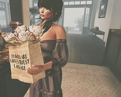 Flowers for someone special (SydLionheart) Tags: ariskea secondlife photoshop photography sl flowers spring petitemort