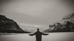 Geological Symphony (_Matt_T_) Tags: rockies banff nationalpark canada lake minniwanka lakeminniwanka bw landscape selfie hdpdfa1530mmf28edsdmwr