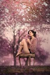 Spring Blooms ({jessica drossin}) Tags: jessicadrossin woman portrait flowers purple pink pretty grass falling wwwjessicadrossincom