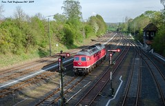 232 690 EBS Herzberg 24.04.2019 (Falk Hoffmann) Tags: diesellok eisenbahn bahnhof güterzug formsignal reichsbahn dr ebs ludmilla br132 br232