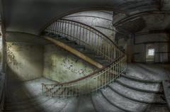 forgotten -S- stairs (Blacklight Fotografie) Tags: staircase stairwell stairs stair stairsindecay treppenhaus treppe treppen steps step abandoned decay derelict forgotten rotten lost lostplace verlassen verfallen vergessen hdr urbex urbanexploration urban panorama atmosphere atmosphäre pano geländer