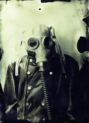 Apocalyptic portrait (Sonofsono) Tags: apocalyptic apocalypse postapocalyptic portrait gas mask wet plate fkd collodion ambrotype
