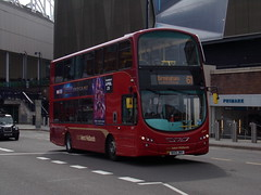 "National Express West Midlands Volvo B5LH (Wright Gemini 2) 5517 ""Olivia"" BX13 JNV (Alex S. Transport Photography) Tags: bus outdoor road vehicle nationalexpress nationalexpresswestmidlands nxwm route61 volvob5lh wright gemini gemini2 5517 olivia bx13jnv"