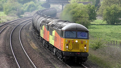 56113 & 56090 6E32 passing New Barnetby 30/04/19. (Mr Corbett's stuff) Tags: 56113 56090 6e32 barnetby class 56 colas preston lindsey tanks