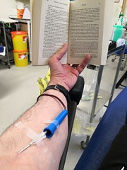 April 25th 2019 - Project 365 (Richard Amor Allan) Tags: blood donor donation needle book reading project365