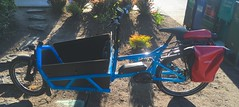 full-suspension cargo moped (Tysasi) Tags: bakfiets longjohn moped