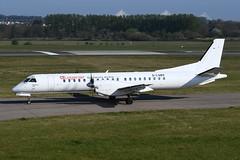 G-LGNS Saab 2000 EGPH 22-04-19 (MarkP51) Tags: glgns saab 2000 loganair lm log edinburgh airport edi egph scotland aviation airliner aircraft airplane plane image markp51 nikon70200f4vr sunshine sunny nikond500 planeporn nikon d500