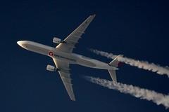 Turkish Airlines A330 TC-JNT (stephenjones6) Tags: jet aircraft plane civil aviation nikon d3200 blue sky contrail chemtrail vapour vapourtrail ott overthetop turkish airlines a330 tcjnt skywatcher telescope dobsonian msn1476 a330303