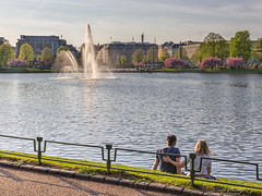 """Young love"" (Terje Helberg Photography) Tags: boy candid cityenvironement citylife cityscape couple fountain girl man outdoor outside park parklife people railing spring street streetphotography streetlife sunlight trees urban water waterfront woman younglove love"