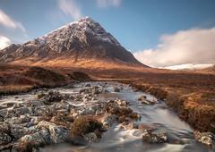Buachaille Etive Mor (judepics) Tags: bem highlands scotland winter buachailleetivemor glencoe river longexposure