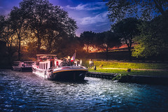 Alouette (Ro Cafe) Tags: boats river water sunset promenade town carcassonne france sonya7iii nikkor2470mmf28