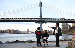 Older Brother's Wisdom (Anthony Mark Images) Tags: brothers wisdom cute adorable jewish orthodox brooklyn brooklynbridgepark newyork water eastriver children people portrait kippah payot fence manhattanbridge יהודיאורתודוכסי אחים ילדים כיפה פיוט nikon d850 flickrclickx brotherlylove sibling boys