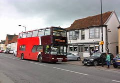 Declining Presidents at Long Melford (Chris Baines) Tags: chambers volvo b7tl plaxton president w487 wgh long melford 753 service bury st edmunds
