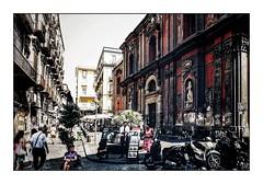 Napoli Walls 18 (Jean-Louis DUMAS) Tags: graphiti streetart wall murs hdr italia italie naples napoli art tag sony travel traveler trip voyage voyageur people personne black church eglise