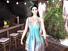 Entrance no.395 (Curiosse) Tags: short summer dress sea stars 2019 pixicat beautiful blue