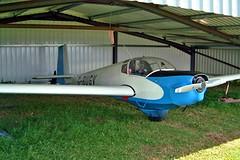 G-BUGV   Slingsby T.61F Venture [1884] Enstone~G 09/07/2004 (raybarber2) Tags: 1884 abpic airportdata cn1884 egtn filed flickr gbugv motorglider planebase raybarber single ukcivil