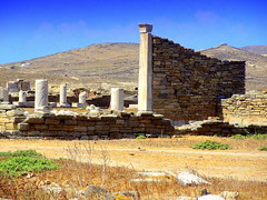 The Archaeological Site of Delos. Stone Wall (dimaruss34) Tags: newyork brooklyn dmitriyfomenko sky clouds greece delos archaeologicalsite ruins stonewall