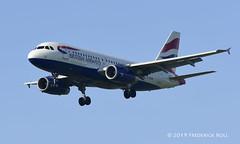 British Airways A319 ~ G-EUOE (© Freddie) Tags: londonheathrow poyle heathrow lhr egll 09l arrivals britishairways ba oneworld airbus a319 geuoe fjroll ©freddie