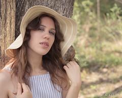 Lisa Portrait (makleen) Tags: lisalaroo femalemodel woman model modeling woods nature dress sundress hat sunhat femaleportrait portrait portraitphotography tree