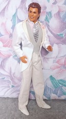 Wedding Day Alan #9607 from 1990 (VintageZealot) Tags: wedding day alan ken barbie mattel 1990 1990s 90s 9607 malaysia caucasian fashion doll clothing clothes outfit vintage model modelling brunet plastic snaps velcro loafers white marriage grey silver pink leather pleather pinstripe pants vest tie dress shirt pockets jacket tuxedo suit flower socks tan tanned lapels notch groom shoes 9852 allan retro faux vinyl
