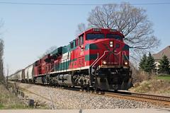 FXE 4618 blasts toward River Road just east of Watertown with CP 680 (AndyWS formerly_WisconsinSkies) Tags: train railroad railway railfan canadianpacificrailway canadianpacific cprail cp ferromex ge es44ac gevo locomotive