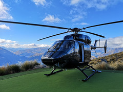 Over the Top (1) (dandireyes) Tags: helicopter queenstown newzealand